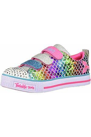 Skechers Girls' Twinkle Lite-Sparkle Scales Low Top Sneakers