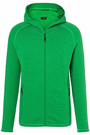 James & Nicholson Men's Stretchfleece Jacket Multicoloured Fern- /Carbon