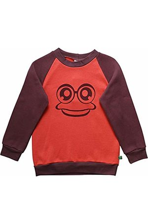 Green Cotton Girl's Hello Sweat Sweatshirt
