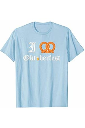 Oktoberfest Apparel by BUBL TEES I Love Oktoberfest Pretzel Heart Beer Festival Party T-Shirt