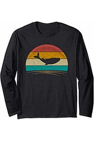 Wowsome! Vintage Whale Retro Vintage 70s Distressed Animal Men Women Long Sleeve T-Shirt
