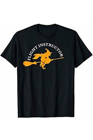 Miftees Flight Instructor funny Halloween Pilot Witch T-Shirt