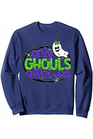 2019 Halloween Tees NYC Only Ghouls Allowed Cute Girls Ghost Bow Bouttique Halloween Sweatshirt