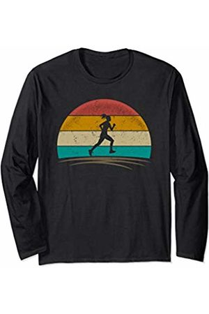 Wowsome! Vintage Runner Retro Vintage 70s Distressed Running Womens Long Sleeve T-Shirt