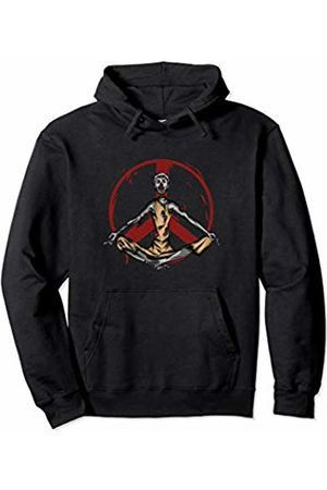 Halloween Zombie Apparel Zombie Halloween Peace Sign Meditating Yoga Gift Boys Girls Pullover Hoodie