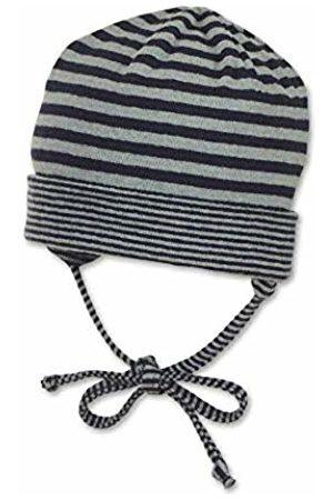 Sterntaler Baby Boys Bonnet Unisexe Avec Rayures Et Cordons D'attache Au Menton, Âge: 3-4 Mois, Taille: 39, Bleu (Marine) Beanie, 300