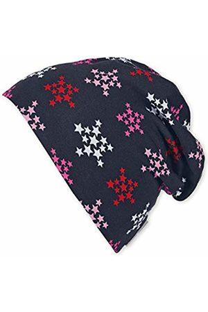 Sterntaler Girl's Bonnet Réversible Avec Motif Étoiles Et Rayures, Âge: 2-4 Ans, Taille: 53 cm, Magenta Beanie, 745