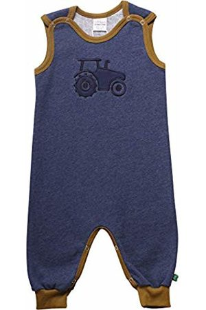 Green Cotton Baby Boys' Tractor Romper Shaping Bodysuit