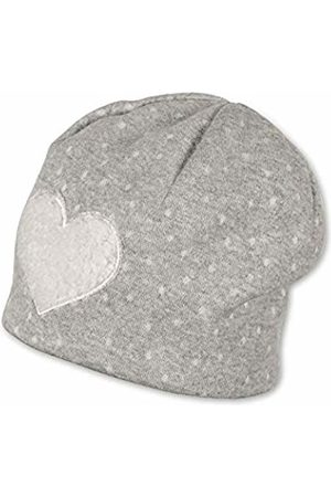 Sterntaler Baby Girls Bonnet Pour Fille Avec Motif Cœur, Âge : 4-5 Mois, Taille : 41 cm, Gris Pierre Beanie