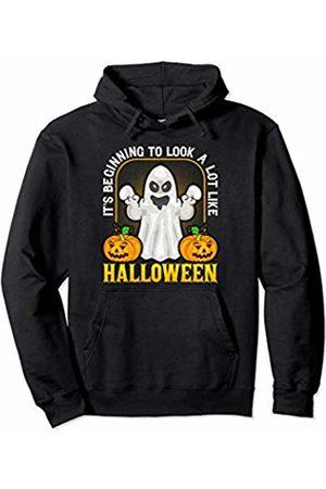 Halloween Ghost Kids Designs Co. Ghost & Pumpkin Halloween Party Cute Kids School Trick Treat Pullover Hoodie
