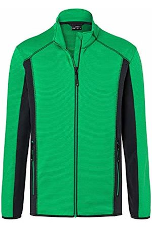 James & Nicholson Men's Structure Fleece Jacket Multicoloured Fern- /Carbon