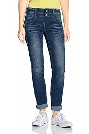 Street one Women's 372474 Jane Casual Fit Slim Jeans, ( Indigo Authentic Wash 11996)