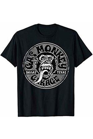 Gas Monkey Garage Grey Distressed Circle Logo T-Shirt