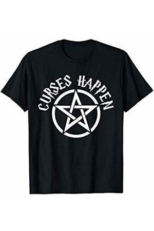 Miftees Curses Happen funny Halloween Witch Pun T-Shirt