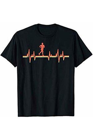Retro Heartbeat Running Running T-Shirt