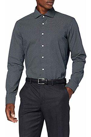 Seidensticker Men's X-Slim Fit Langarm Mit Spread Kent-Kragen Bügelleicht Gepunktet-100% Baumwolle Formal Shirt, ( 19)