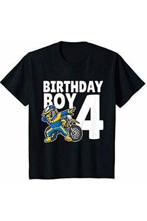 f5ee91bc8d644 Youth 4th Birthday Dabbing Motocross Bike Boy Tee 4 Years Old T-Shirt