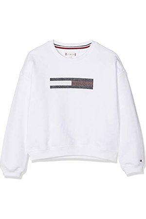 Tommy Hilfiger Girl's Lurex Flag Slouchy Sweatshirt (Bright 123)