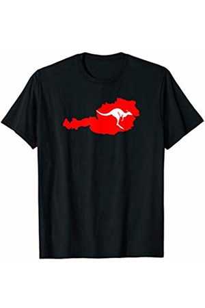 AUSTRIA IN THE NEWS 2 KANGAROOS ARE RUNNING WILD NOW IN AUSTRIA FLAG T-Shirt