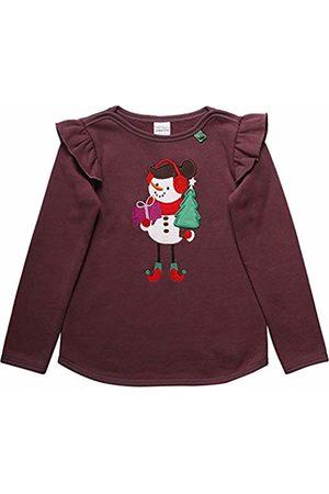 Green Cotton Girl's Hello Snowgirl Sweat Sweatshirt, (Plum 019231101)