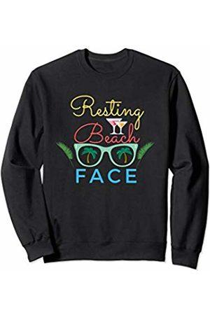 Funny Resting Beach Face Gift Men Hoodies & Sweatshirts - Women's Resting Beach Face Funny Workout Gift For Men Relax Sweatshirt