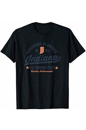 Retro USA State Tees Indiana Vintage Sports Design Hoosier State Rough Shirt