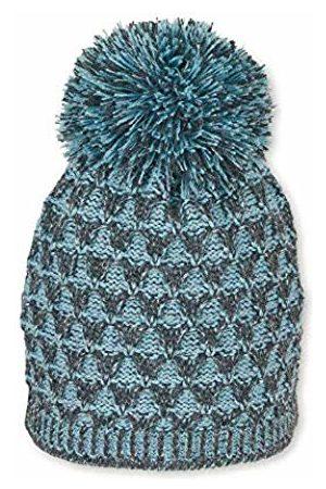Sterntaler Girl's Bonnet Tricoté Pour Deux Couleurs Avec Pompon, Âge: 18-24 Mois, Taille: 51 cm, Gris Anthracite Beanie