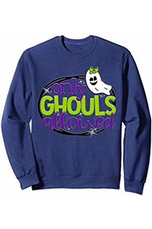 2019 Halloween Tees NYC Only Ghouls Allowed Cute Girls Ghost Bow School Halloween Sweatshirt