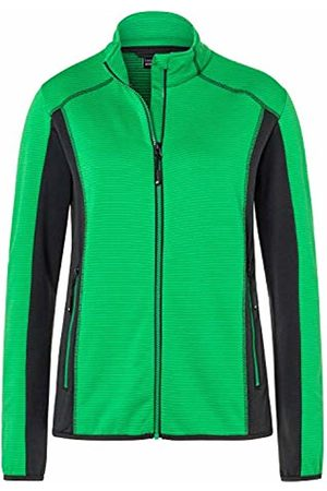James & Nicholson Women's Ladies' Structure Fleece Jacket Multicoloured Fern- /Carbon