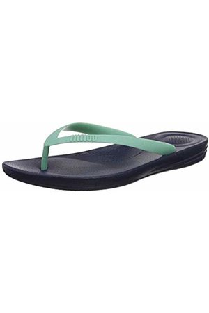 FitFlop Men's iQushion ERGONOMIC FLIP-FLOPS Turquoise (Midnight Navy/Ocean Mix 716)