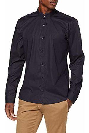 HUGO BOSS Men's Elvorini Casual Shirt, (Dark )