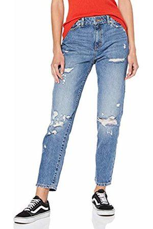 Only Women's Onlffaye Hw Straight ANK Life Bb Crem44 Jeans, Medium Denim