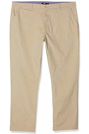 Jacamo Men's Fit Stretch Chinos in Stone Regular Length (31 Inches) Trousers, 001