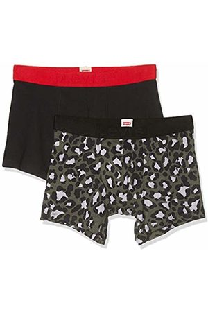 Levi's Men's Bubble Cheetah Boxer Brief 2P Shorts