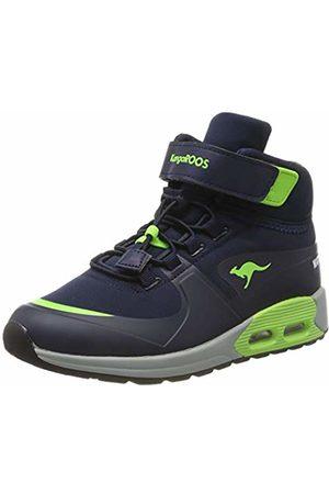 KangaROOS Unisex Kids' Kanga X Hydro Classic Boots, ((Dk Navy/Lime 4054)