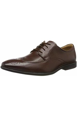 Clarks Men's Bampton Wing Brogues, Mahogany Leather