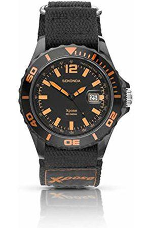 Sekonda Mens Analogue Classic Quartz Watch with Nylon Strap 3524