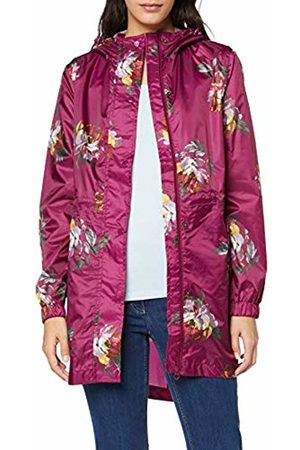 Joules Women's Golightly Raincoat, Berry Peony