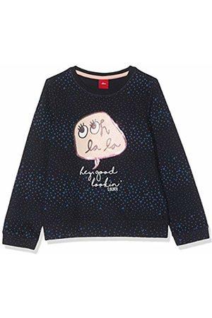 s.Oliver Girl's 54.899.41.0468 Sweatshirt, Dark AOP A