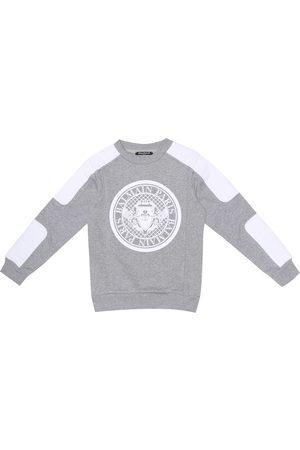 Balmain Appliquéd cotton-jersey sweatshirt