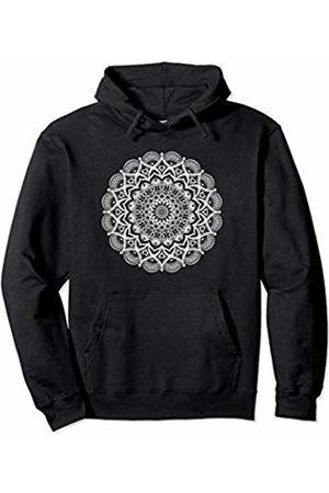 Lotus Mandala Art Tees Lotus Flower Yoga Mandala Apparel for Women and Men Pullover Hoodie