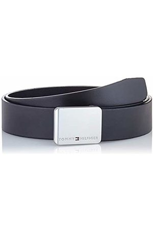 Tommy Hilfiger Men's Plaque Modern Rev Leather 3.5 Belt
