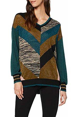 Sisley Women's V Neck Sweater L/s Jumper