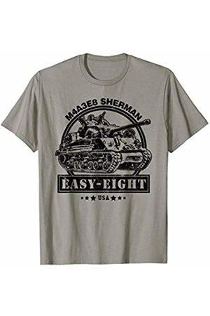 Military Vehicles Tees & Gifts M4A3E8 Sherman WW2 Tank - Sherman Easy-Eight T-Shirt