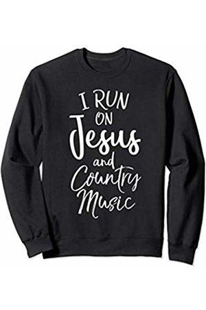P37 Design Studio Jesus Shirts Christian Gift for Men & Women I on Jesus and Country Music Sweatshirt