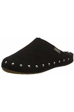 Living Kitzbühel Girls' Pantoffel Filz Nieten mit Fußbett Open Back Slippers