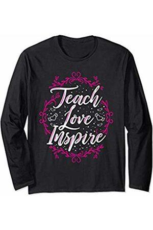Wowsome! Teach Love Inspire Teacher Teaching Appreciation Day Womens Long Sleeve T-Shirt