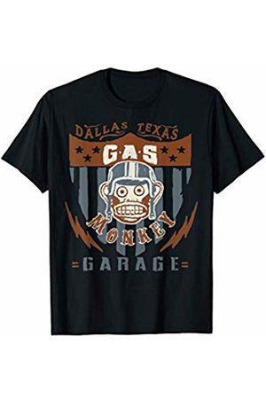 Gas Monkey Garage Retro Helmet Monkey Shield Poster T-Shirt