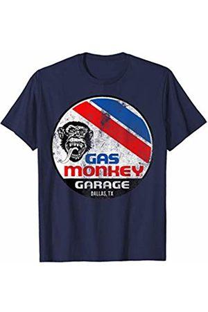 Gas Monkey Garage Red White And Blue Stripe Circle Logo T-Shirt