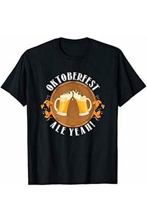 Oktoberfest Apparel by BUBL TEES Ale Yeah Oktoberfest Beer Drinking T-Shirt